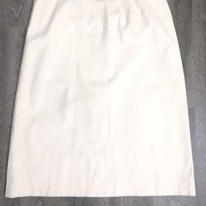 Cream Vintage Ultrasuede Skirt Offwhite Creme Midi